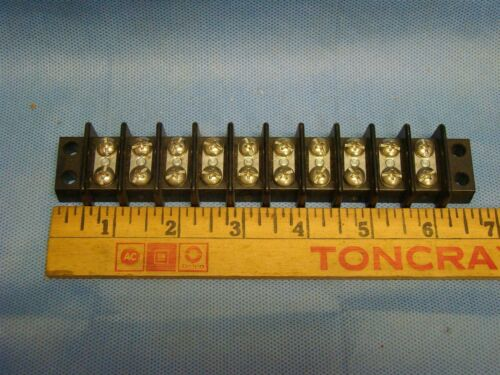 Ten 10 Terminal Block Auto Truck Car Street Rat Rod Free Ship USA Wire Panel 1ea