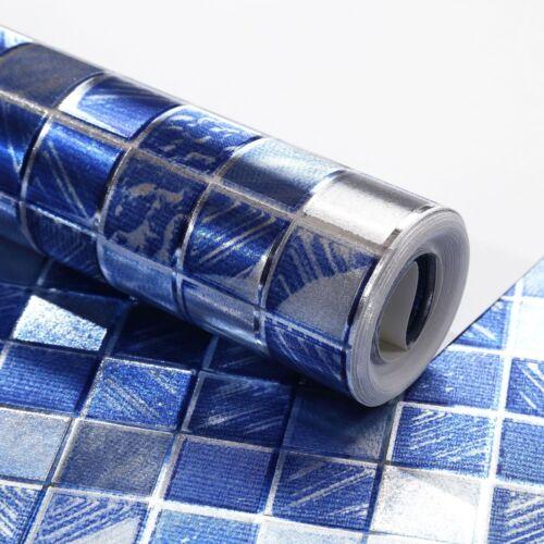 9.5M Mosaic Wallpaper Roll Embossed Flocked Textured Wall Sticker PVC Watertight