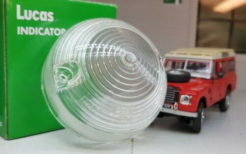Land Rover Series 3 Sidelight Side Light Genuine OEM Lucas Lens L760 L874 x2