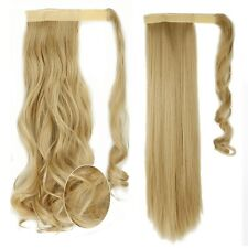 US Real 100% Ombre Wrap Around Ponytail Clip In Hair Extensions Feel Human TG5
