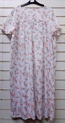 Ladies Quality Poly Cotton Short Sleeve Nightie Nightdress UK Sizes 8//10 /& 24