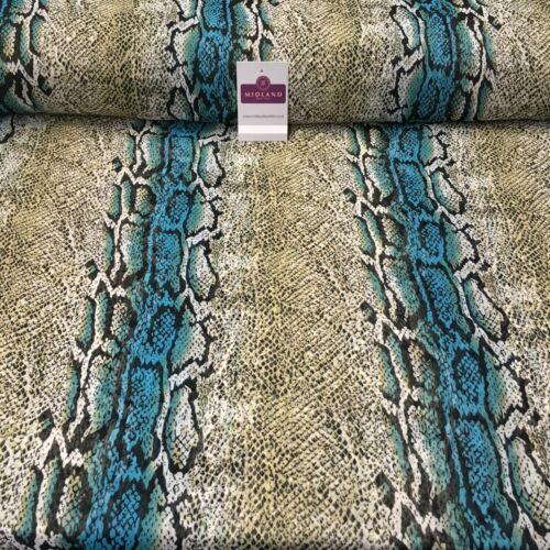Vert Animal Imprimé Crinkle Georgette Mousseline Tissu largeur 150 cm MK1090-13