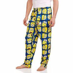 52f9c1f1cdb1 Minions Men s Sleep Pants S M L XL 2XL NEW Minion Lounge Pajamas