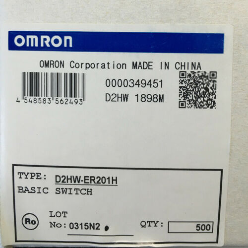 10Pcs Omron D2HW-ER201H Micro Limited Switch Electronic Components