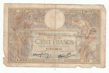 BILLET FRANCE  100  FRANCS   MERSON  19 / 5 / 1938 EO