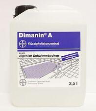 """Bayer """"Dimanin A"""" 2,5 Liter, Desinfektion, Algen-Entferner, Grünbelag-Entferner"""