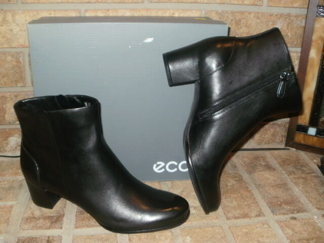 New New New ECCO Pailin Leather Ankle Boot  Black EU 41 US 10-10.5  150 f4598a