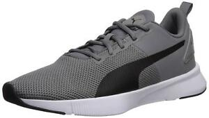 hot sale online 20dc8 15660 Image is loading PUMA-MENS-FLYER-RUNNER-CHARCOAL-GRAY-PUMA-BLACK-