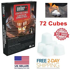Details About 72 Pcs Lighter Cubes Fire Starter Non Toxic Smokeless Charcoal Wood Burns Wet