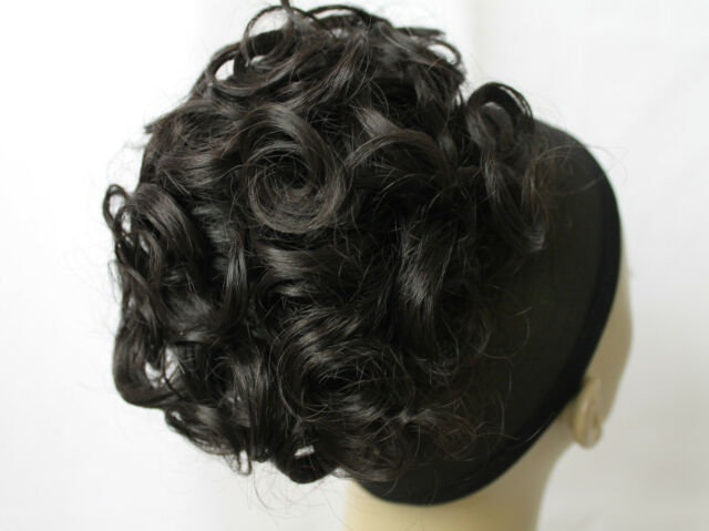 Double Wrap Synthetic Curly Hairpiece Bun Ponytail Scrunchies Elastic Wig up do