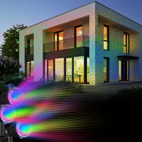 RGB DEL Extérieur Spot projecteur Fourre-Lampes Jardin Fête Timer Prise de courant Living-XXL