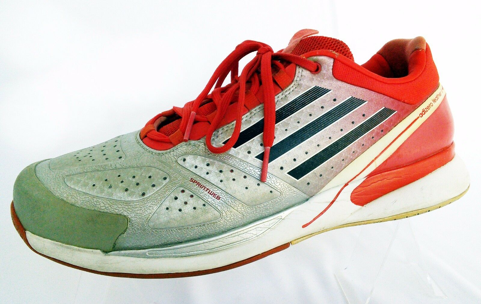 Adidas, Low  Leather Sneakers, multicolor, Sz 10,5