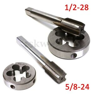 1-2-28-5-8-24-UNEF-Hand-Thread-Tap-Round-Die-Right-Hand-Cutting-Tapping-Tool