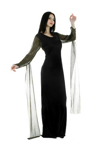 Morticia Dress Fancy Dress Outfit Costume Size 12-14