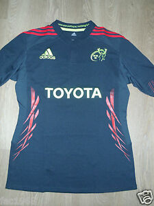 Munster-Rugby-Ireland-Adidas-Toyota-Women-039-s-Rugby-Black-Shirt-XL-New