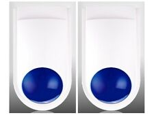 2 x Dummy Alarm Bell Boxes - Fake Alarm Siren - Security Deterrent - Blue Light