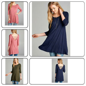 Womens-Autumn-Casual-Round-Neck-Plain-Long-Sleeve-Tunic-T-Shirt-Loose-Top-S-XL