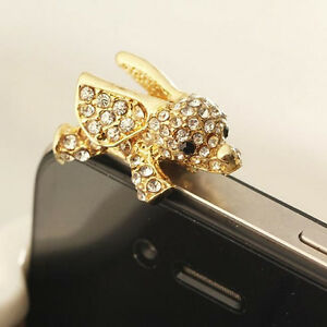 Details about 3.5mm Elephant Crystal Anti Dust Earphone Plug Stopper Cap  For iPhone 6S Samsung 37747bd875da