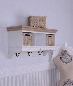 wandgarderobe haken wandregal shabby chic k chenregal landhaus ebay. Black Bedroom Furniture Sets. Home Design Ideas