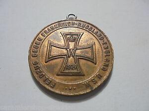 27100 Medaille Feldzug Gegen Frankreich Russland England U.s.w Orden & Ehrenzeichen Militaria Wilhelm Ii 35mm Erfrischung