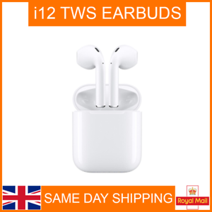 Details about i12 TWINS WIRELESS BLUETOOTH HEADPHONES EAR PODS *apple  style* TWS WHITE