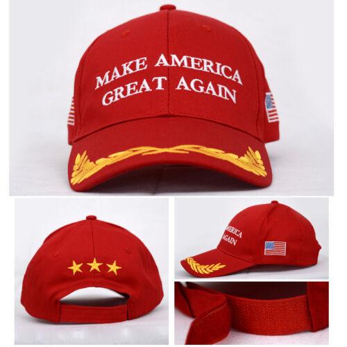 Make America Great Again Hat Donald Trump 2016 Republican Hat Cap Red Hot Red