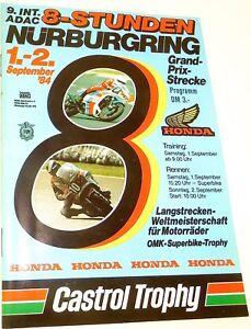 1-2-Septembre-84-9-Int-ADAC-8-Stunden-Nurburgring-Brochure-de-Programme-A