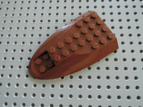 Lego 1 x Cockpit fuselage Airplane Roof 87615 Maroon 6x10 9496