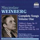 Weinberg Complete Songs Vol.1 von Svetlana Nikolayeva,Olga Kalugina,Korostelyov (2008)