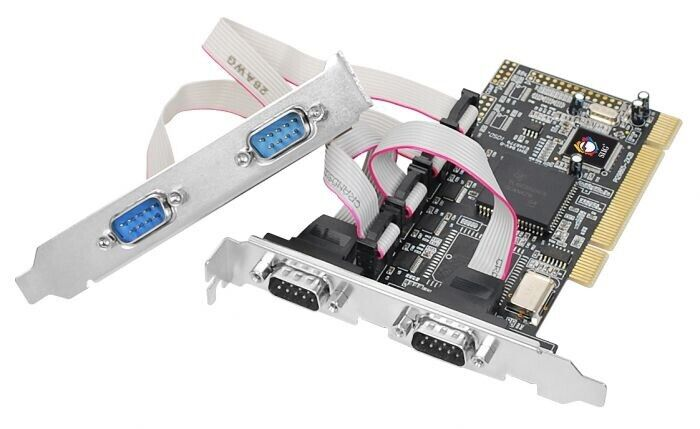 SIIG 4-Port RS232 Serial PCI With 16550 UART New Factory Sealed Box
