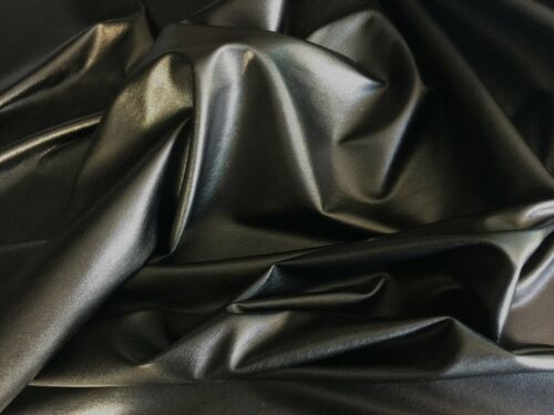 BROWN DRESS CLOTHING FAUX LEATHER LEATHERETTE LYCRA STRETCH FABRIC PVC MATERIAL*