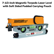 7 12 Inch Magnetic Torpedo Laser Level With Soft Sided Padded Carrying Pouch
