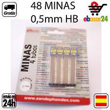 48 minas 0.5 mm recambios portaminas mina HB 0,5 lapiz recambio *Envío GRATIS de