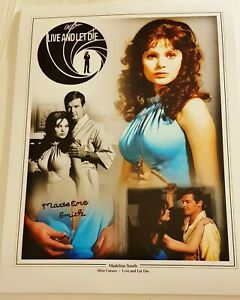 Madeline-Smith-LIVE-AND-LET-DIE-JAMES-BOND-hand-signed-16-034-x-12-034-Montage-photo