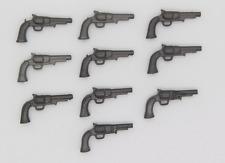 Playmobil 10 x Pistole Pistolen Revolver anthrazit Western ACW