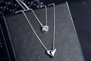 251d6edcc480ae Image is loading Heart-Charm-Pendant-925-Sterling-Silver-Chain-Necklace-