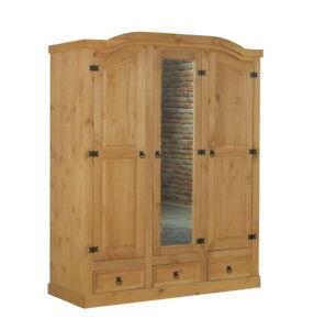 2//3 türiger Kleiderschrank New Mexico Kiefer massiv Mexiko Schlafzimmer Schrank