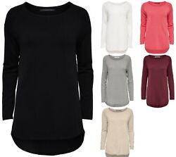 Only Damen Strick Pullover lang langarm Long Pulli Sweater Shirt XS – XL NEU