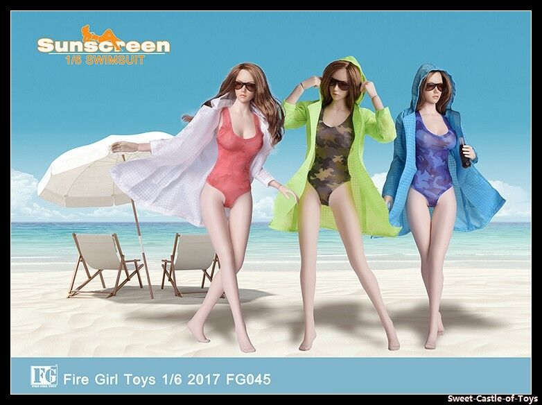 1/6 Fire Girl Toys Accessory FG045 Female Camouflage Swimsuit Uniform Set