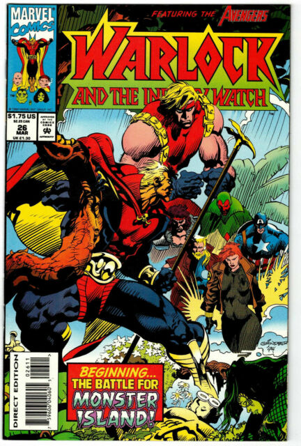 Warlock and the Infinity Watch #26 Marvel Comics March Mar 1994 (VF)