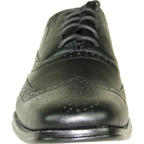 BRAVO New Men Dress Shoe MILANO-1 Classic Square Toe Wingtip Leather Lining