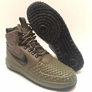 new arrival cd9e8 0ab29 Image is loading Nike-Lunar-Air-Force-1-Duckboot-17-Olive-