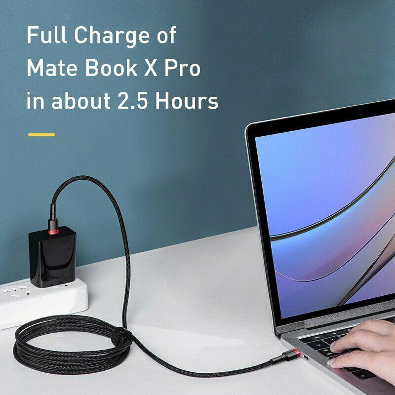BASEUS 100W USB TYPE C TIL TYPE C OPLADERKABEL...