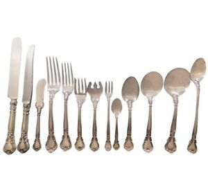 Chantilly-by-Gorham-Sterling-Silver-Flatware-Set-for-18-Service-240-pcs-Dinner