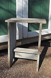 Astonishing Details About Small Antique Vintage Primitive Wooden Bucket Bench 11 1 2 X16 1 2 Wash Stand Bralicious Painted Fabric Chair Ideas Braliciousco