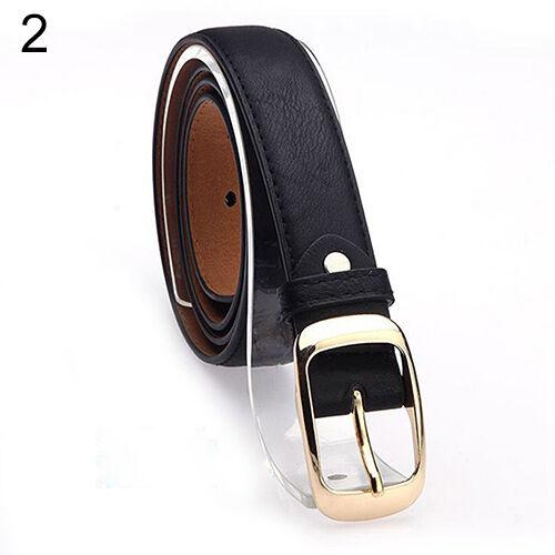 AM/_ Women Fashion Paint Waist Belt Faux Leather Alloy Buckle Waistband Strap Lat