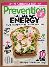 Prevention Get All Day Energy Look Years Younger Fat Burn Aug 2015 FREE SHIPPING