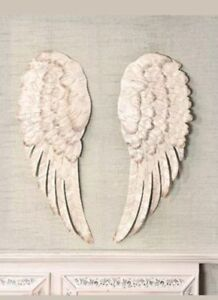 Lovely Image Is Loading Off White Stunning Metal Angel Wings Wall Decor