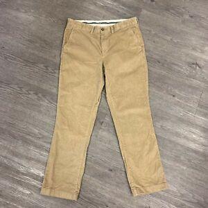 Ll Bean Pantalones De Pana Para Hombre Tamano 35 X 32 Standard Fit Algodon Elastizado Bronceado 508109 Ebay
