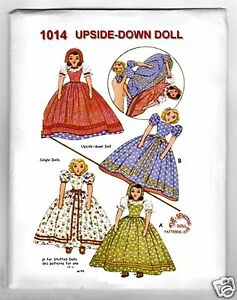 Knitting Pattern For Upside Down Doll : Topsy Turvy Upside Down Doll Pattern and or Single Dolls 15 034 1014 Vintage ...